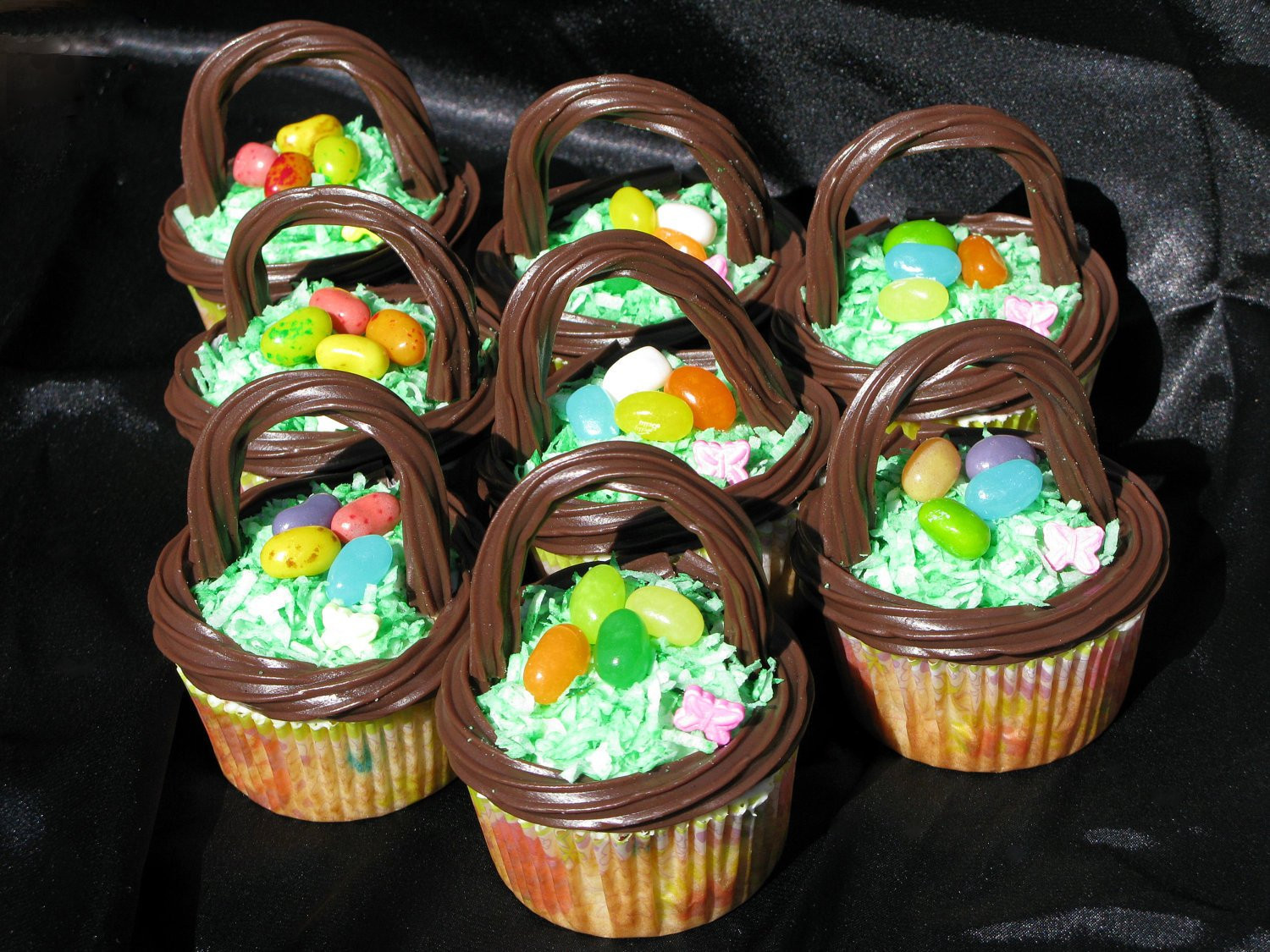 Easter Basket Cupcakes  Easter Basket Cupcakes Local pick up delivery only by