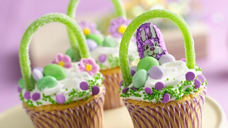 Easter Basket Cupcakes  Easter Basket Cupcakes recipe from Betty Crocker