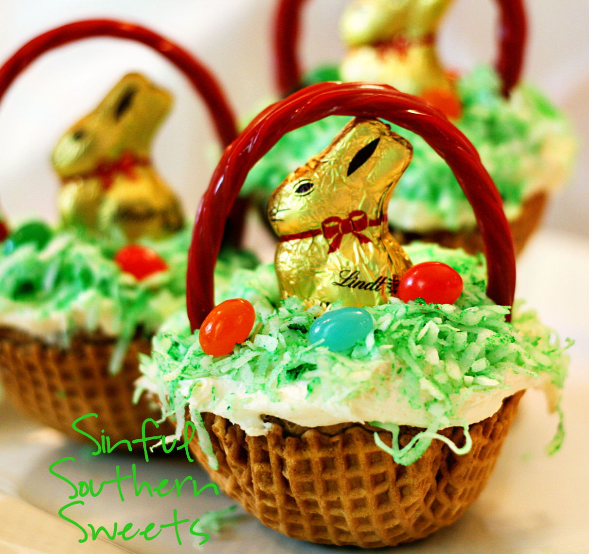 Easter Basket Cupcakes  Sinful Southern Sweets Easter Basket Cupcakes