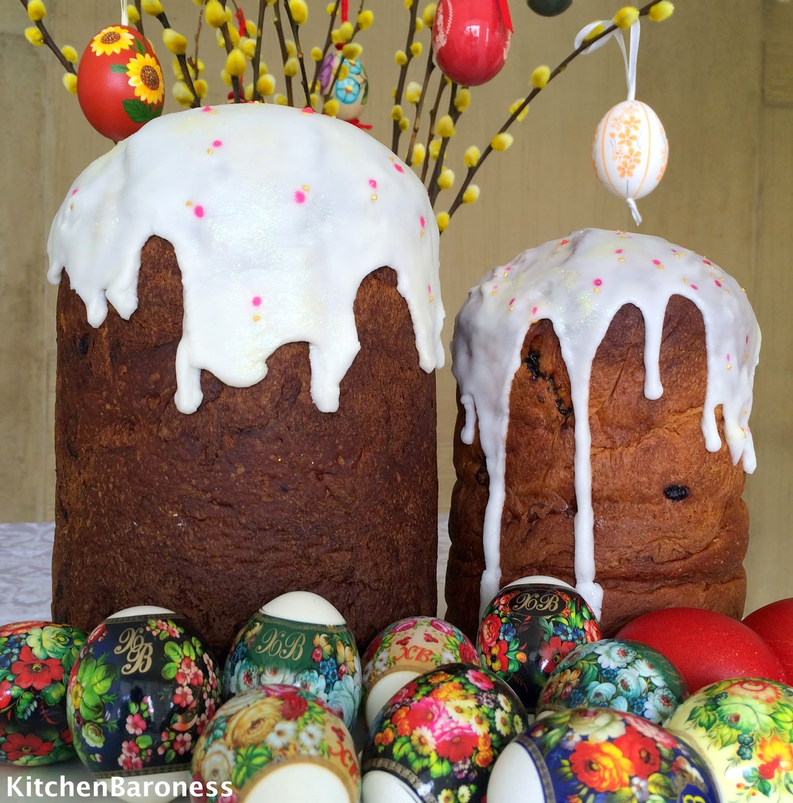Easter Bread Russian  KitchenBaroness Kulich A Russian Easter Bread Baked By A