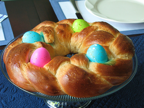 Easter Bread With Eggs  Braided Easter Egg Bread Recipe Cook Italian
