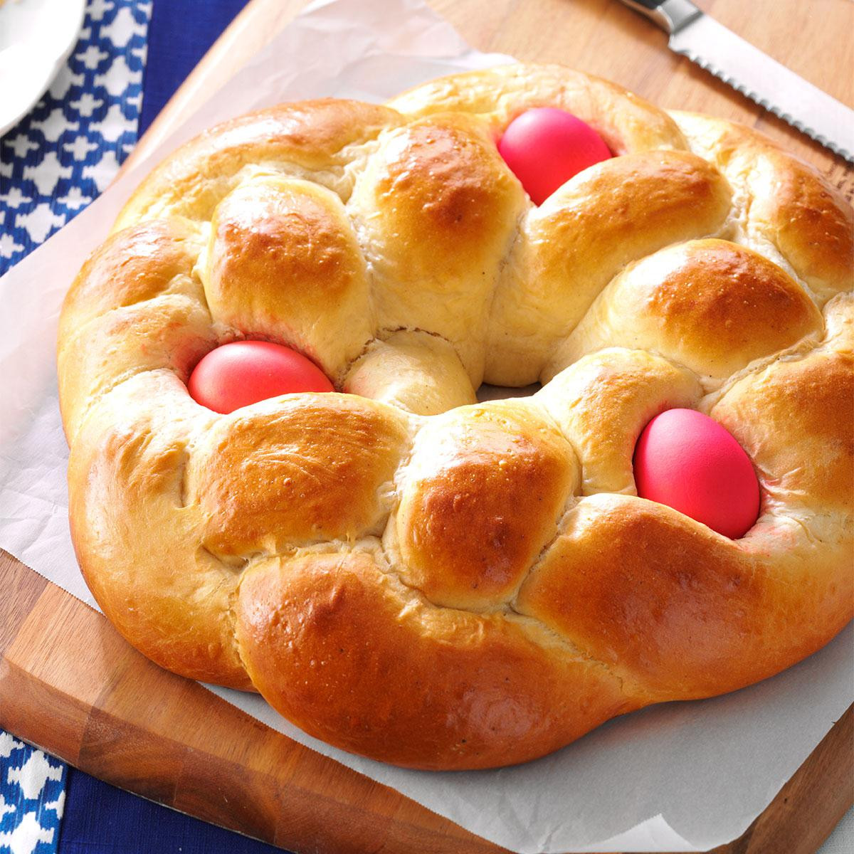 Easter Bread With Eggs  Greek Easter Bread Recipe Plus a Callie's Kitchen