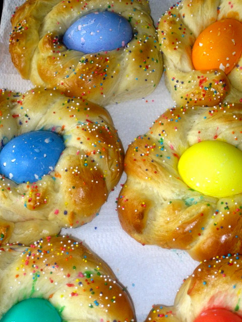 Easter Bread With Eggs  The Cultural Dish Buona Pasqua Happy Easter with Italian