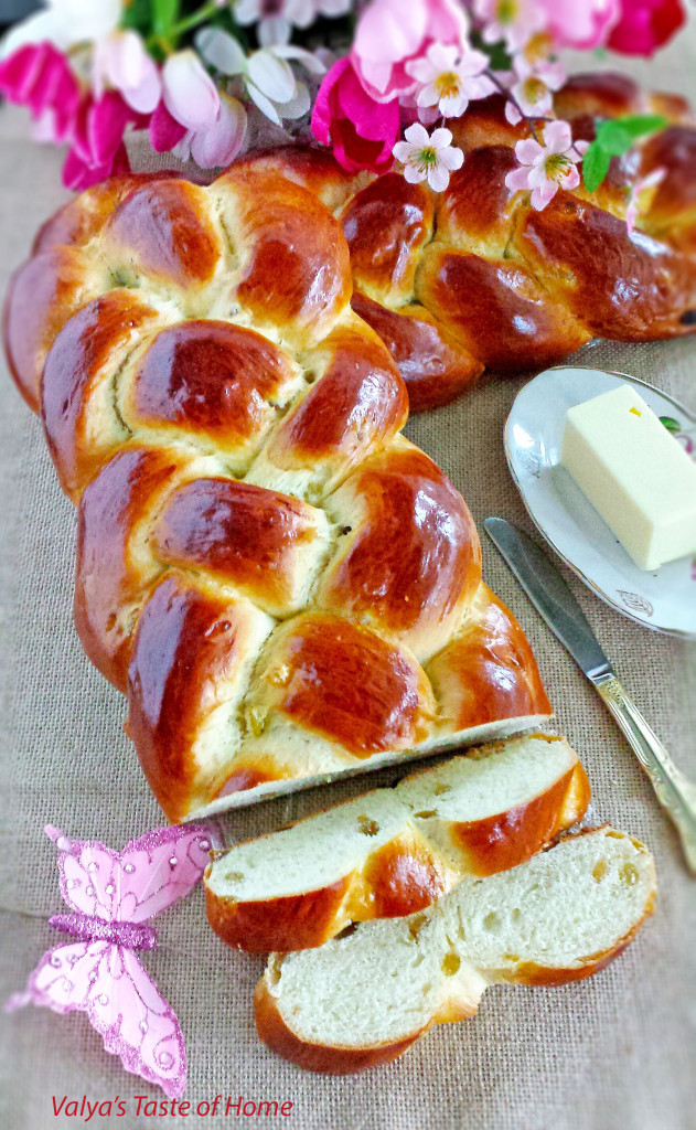 Easter Bread With Raisins  Sweet Braided Easter Bread with Raisins Valya s Taste of