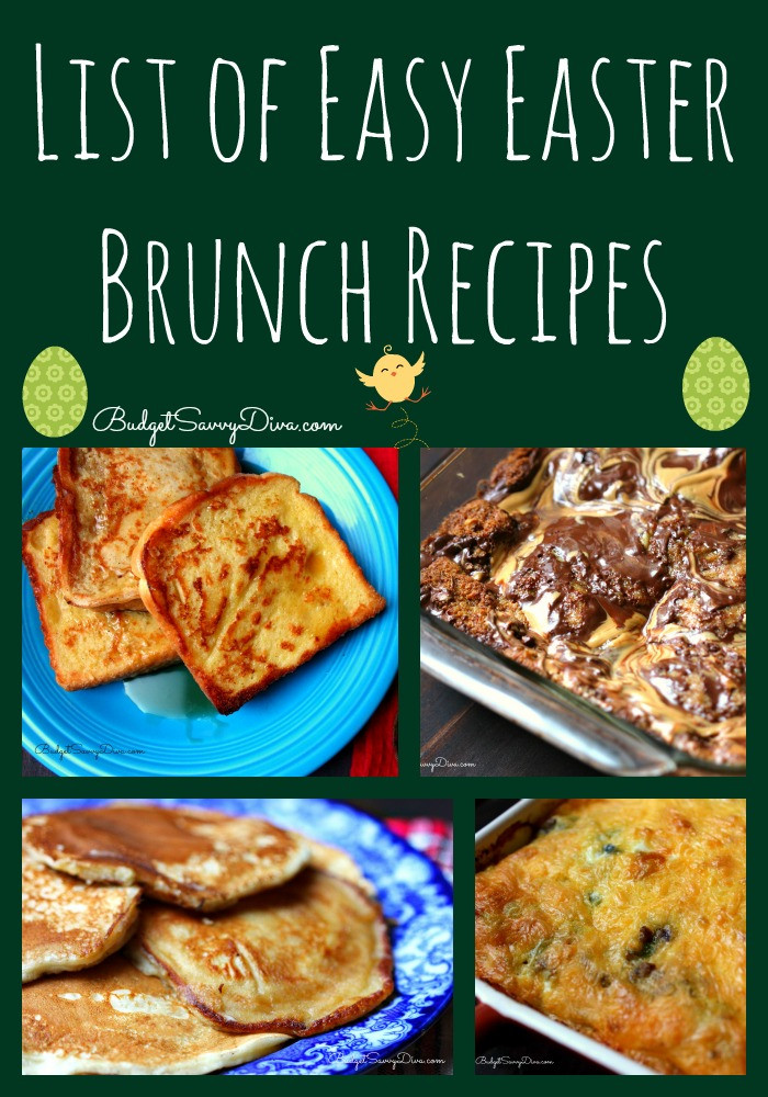 Easter Breakfast Recipes  List of Easy Easter Brunch Recipes