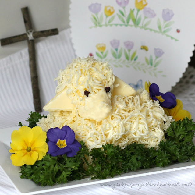 Easter Butter Lamb  With a Grateful Prayer and a Thankful Heart Easter Butter