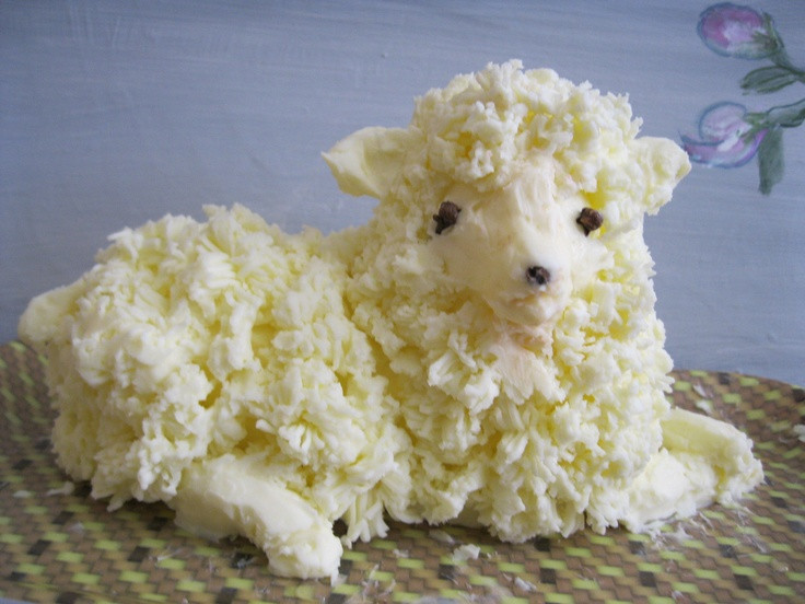 Easter Butter Lamb  17 Best images about Butter Lambs on Pinterest