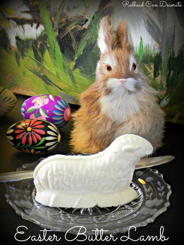 Easter Butter Lamb  Easter Butter Lamb Redhead Can Decorate