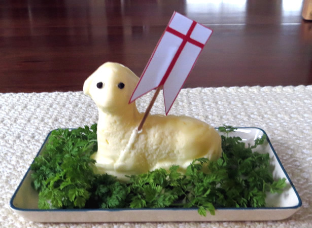 Easter Butter Lamb  St Nicholas Center Easter