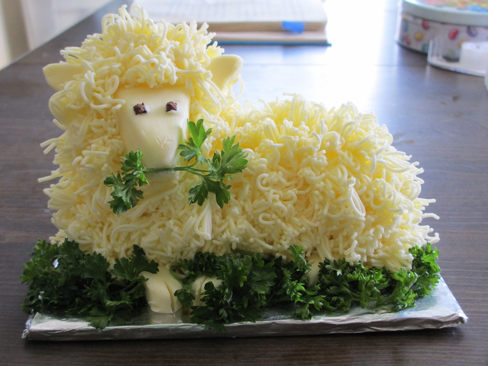 Easter Butter Lamb  Butter lamb mania peaks this weekend Boing Boing