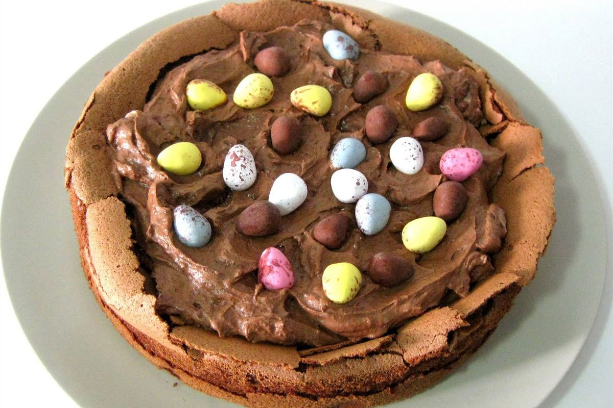 Easter Cake Recipe  Easter egg nest cake Recipes delicious