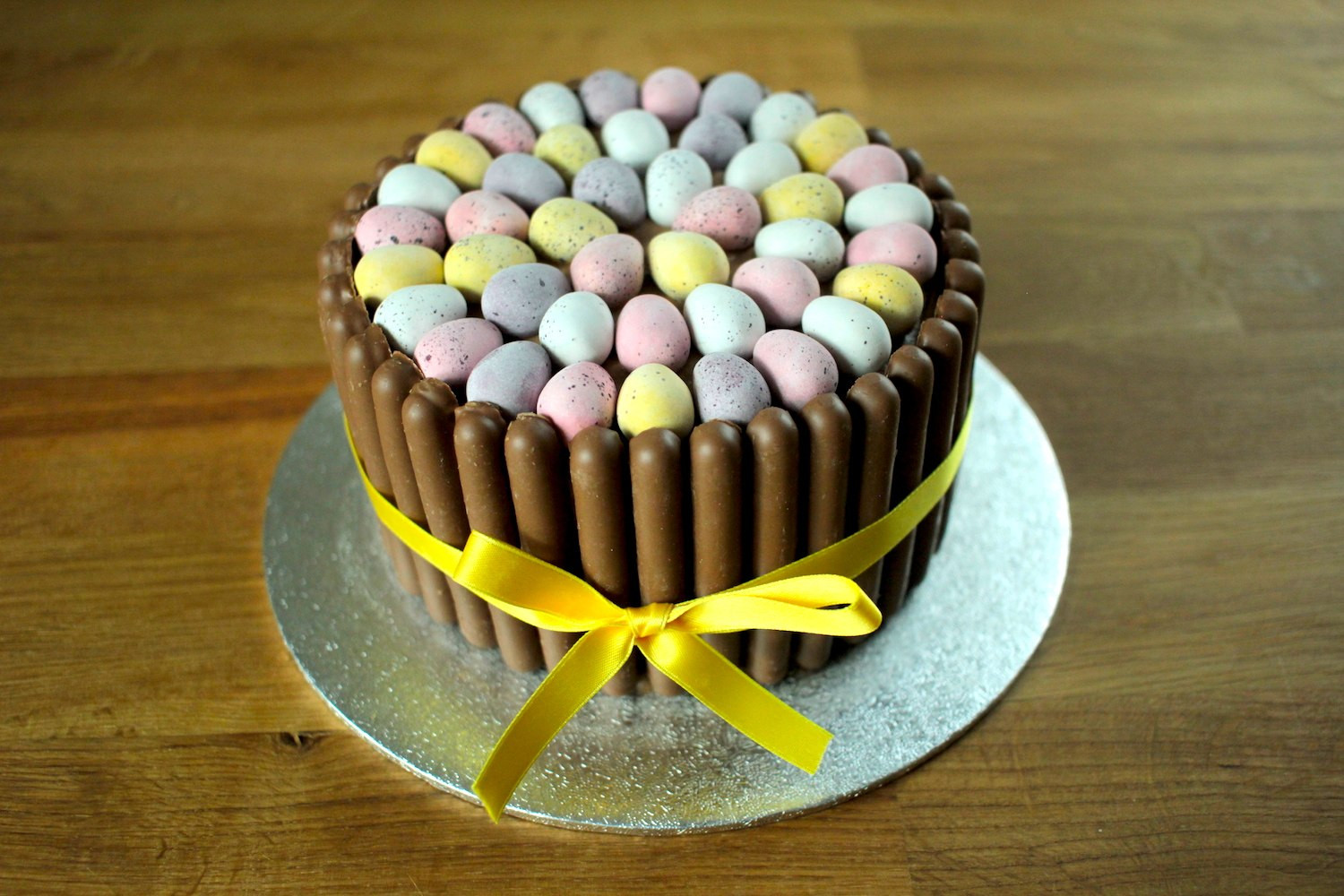 Easter Cake Recipe  Mini Egg Easter Chocolate Cake Recipe Globe Scoffers