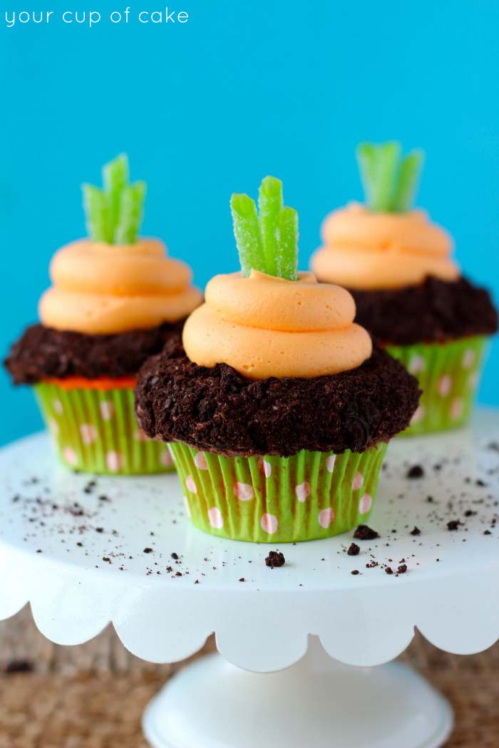 Easter Carrot Cake Cupcakes  Garden Carrot Cupcakes Your Cup of Cake