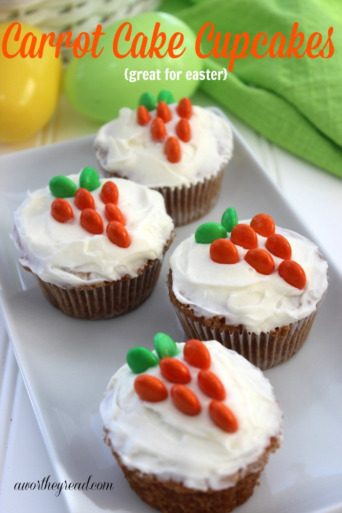Easter Carrot Cake Cupcakes  Easter Ideas Recipe for Carrot Cake Cupcakes