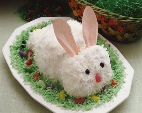Easter Coconut Cake  Easter Bunny Cake