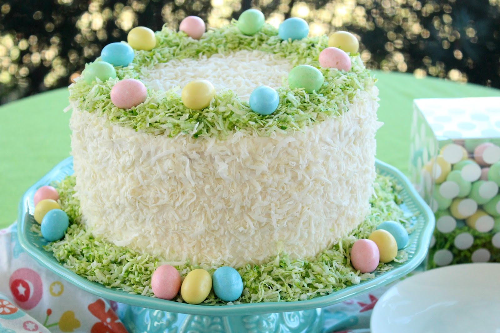 Easter Coconut Cake  Love and Confections Easter Lemon Coconut Cream Cake