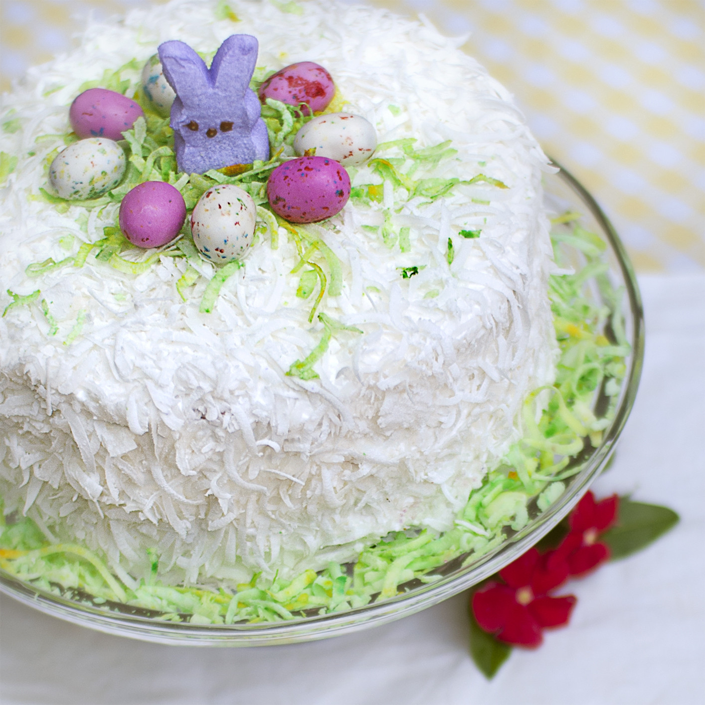 Easter Coconut Cake  Oh the Humidity Easter Coconut Cake