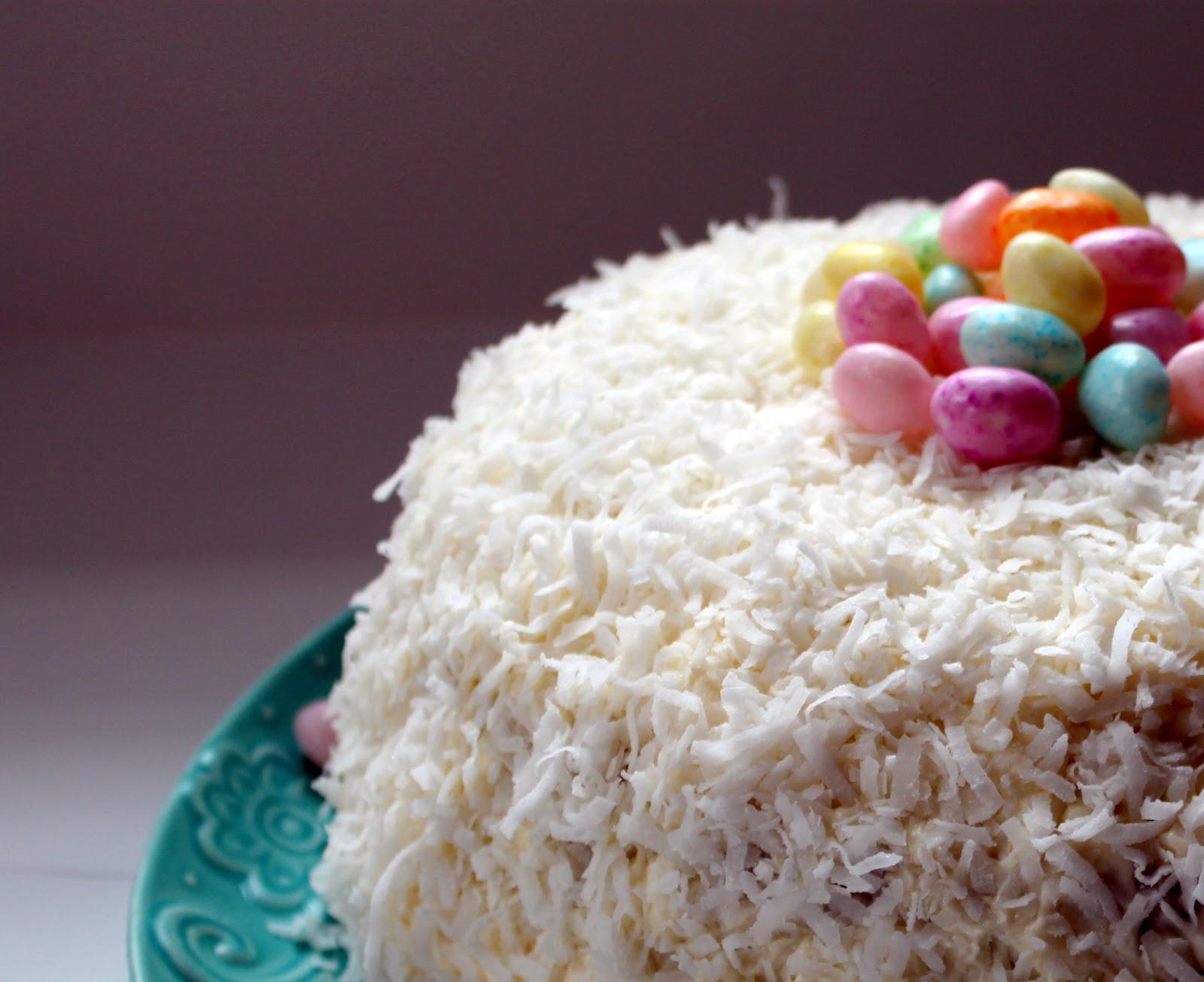 Easter Coconut Cake  Lindaraxa Happy Easter Coconut Cake