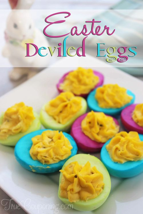 Easter Colored Deviled Eggs  Easter Deviled Eggs Recipe