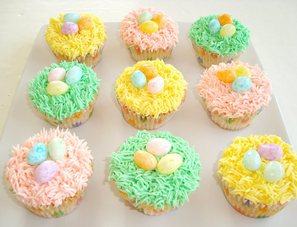 Easter Cupcakes Ideas  Paris Pastry Easter Nest Cupcakes