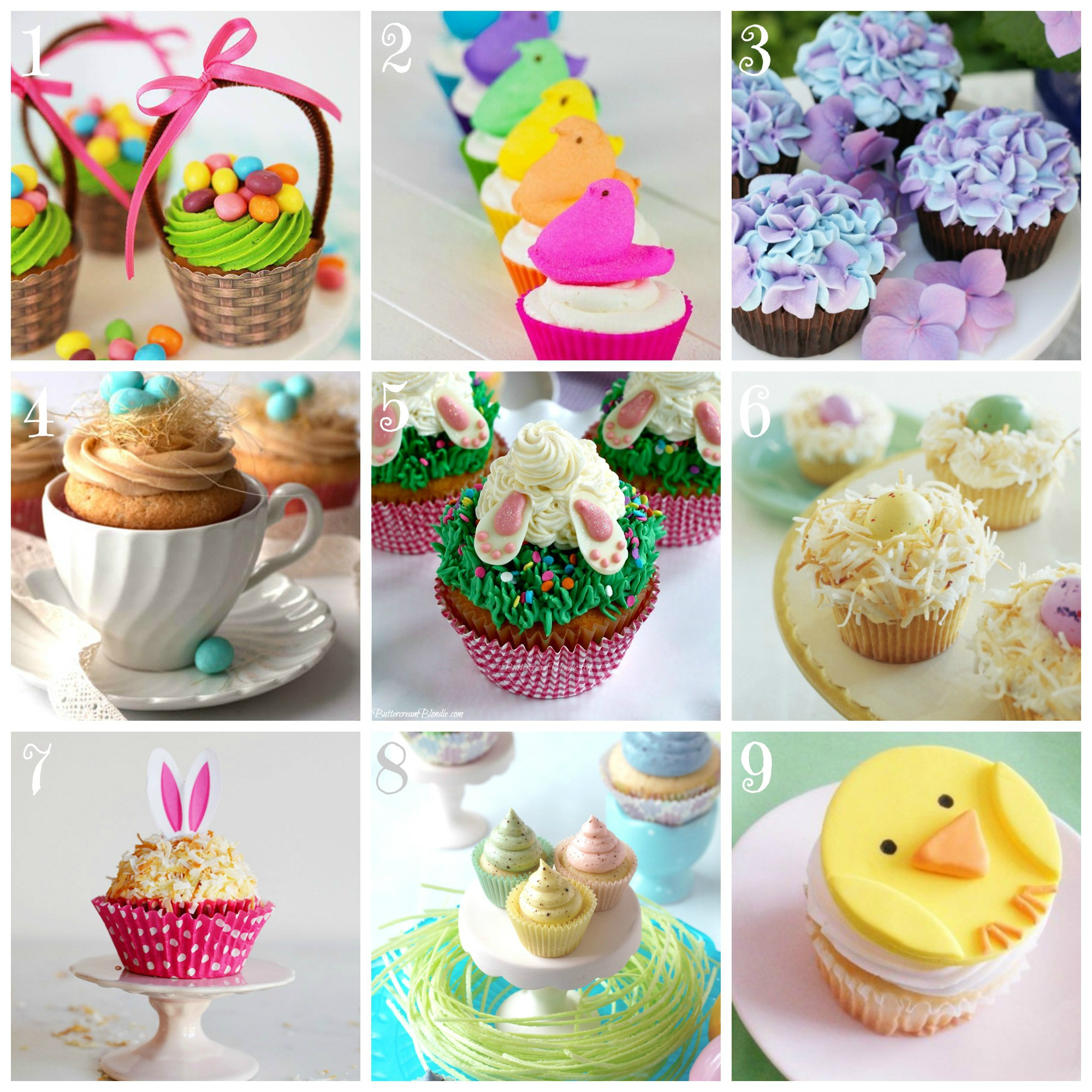 Easter Cupcakes Images  Top 9 Easter Cupcake Recipes