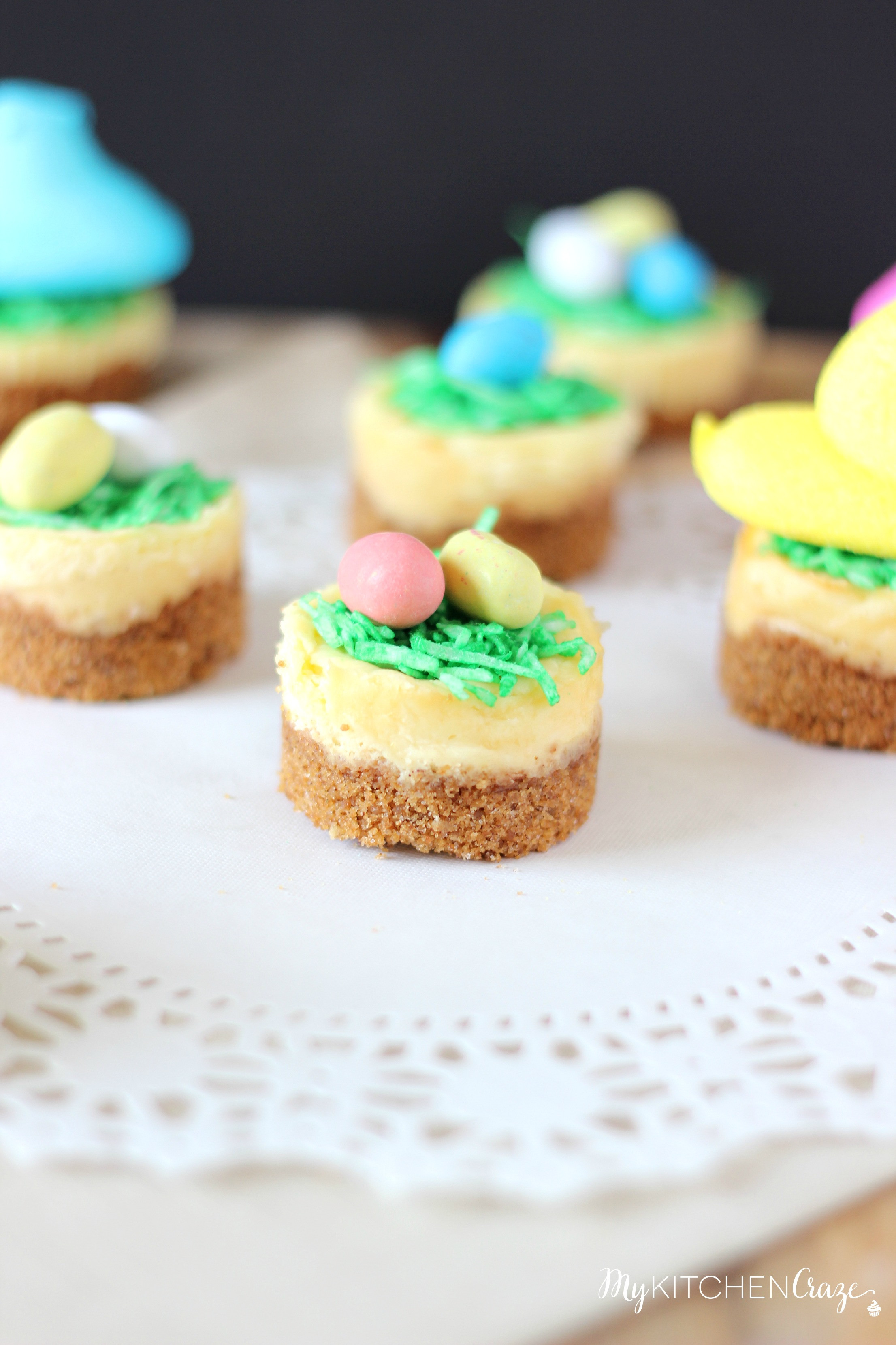 Easter Desserts Recipes  Mini Easter Cheesecakes My Kitchen Craze