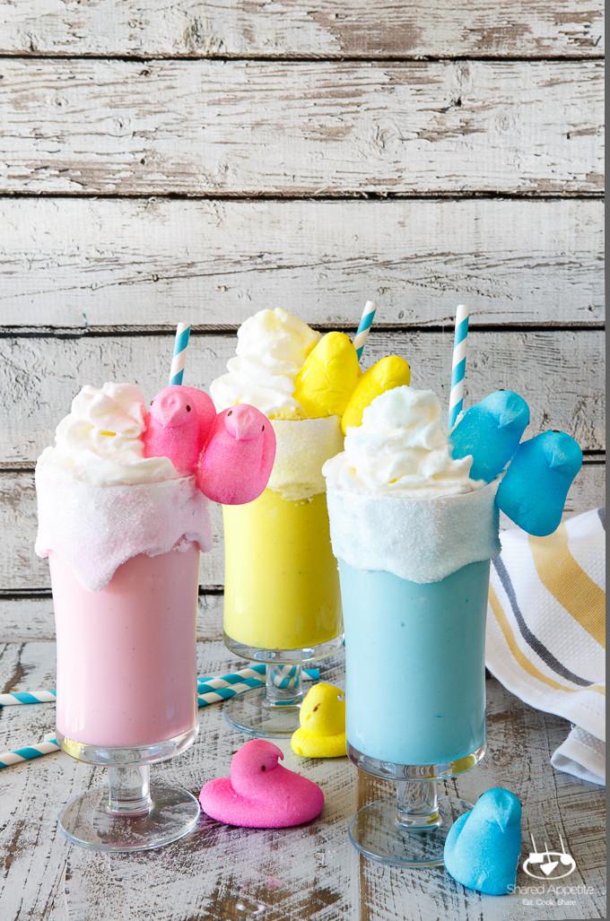Easter Desserts With Peeps  Toasted Marshmallow Easter Peeps Milkshakes d Appetite