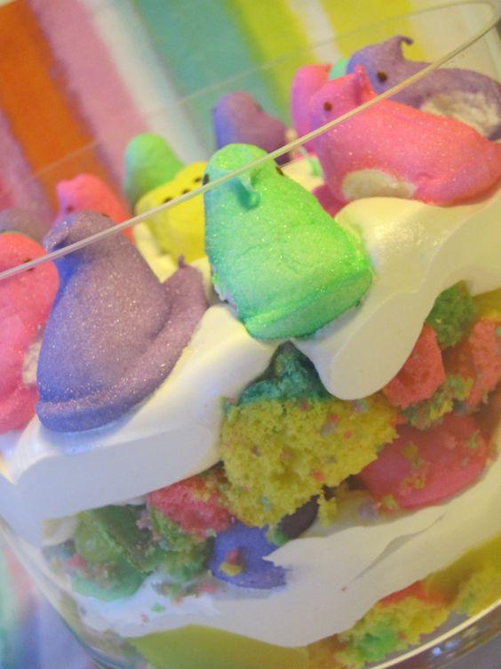 Easter Desserts With Peeps  Rainbow Peeps Trifle Easter Dessert PEEPS