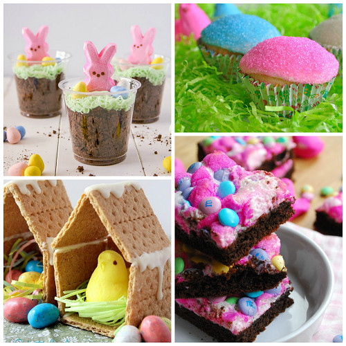 Easter Desserts With Peeps  Fun Easter Treats Made with Marshmallow Peeps Crafty Morning