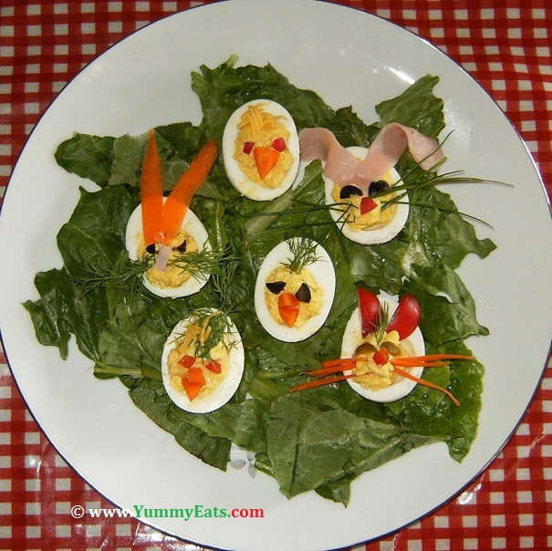 "Easter Deviled Eggs Recipe  Easter Deviled Eggs Recipe ""Funky Bunnies Cute Chicks"