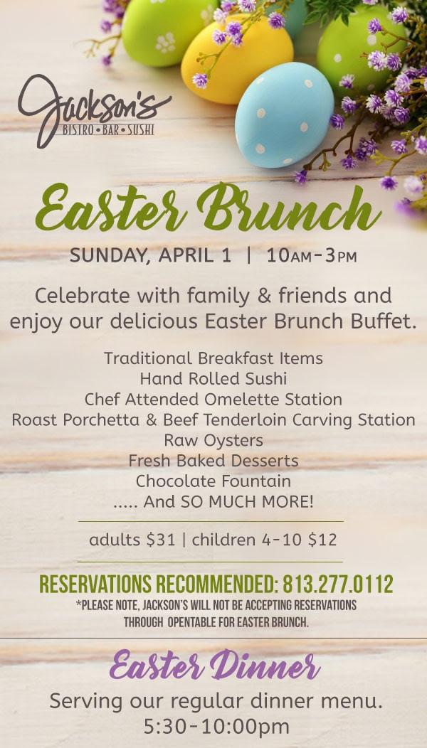 Easter Dinner 2019  Easter Brunch 2018