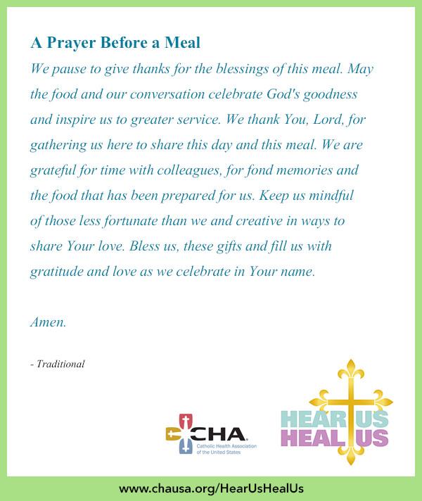 Easter Dinner Blessing  A Prayer Before a Meal HearUsHealUs Prayer