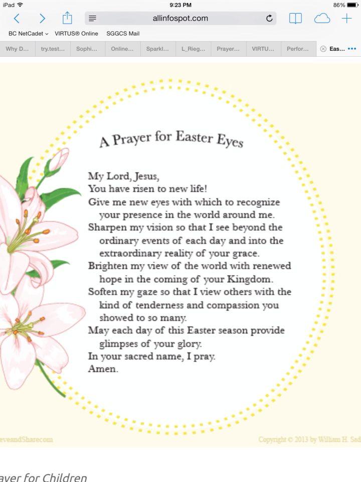 Easter Dinner Blessing  17 Best images about Pre K Easter on Pinterest