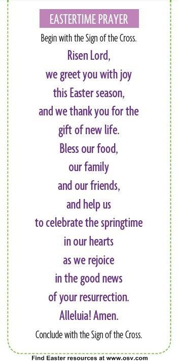 Easter Dinner Blessing  25 best ideas about Dinner prayer on Pinterest