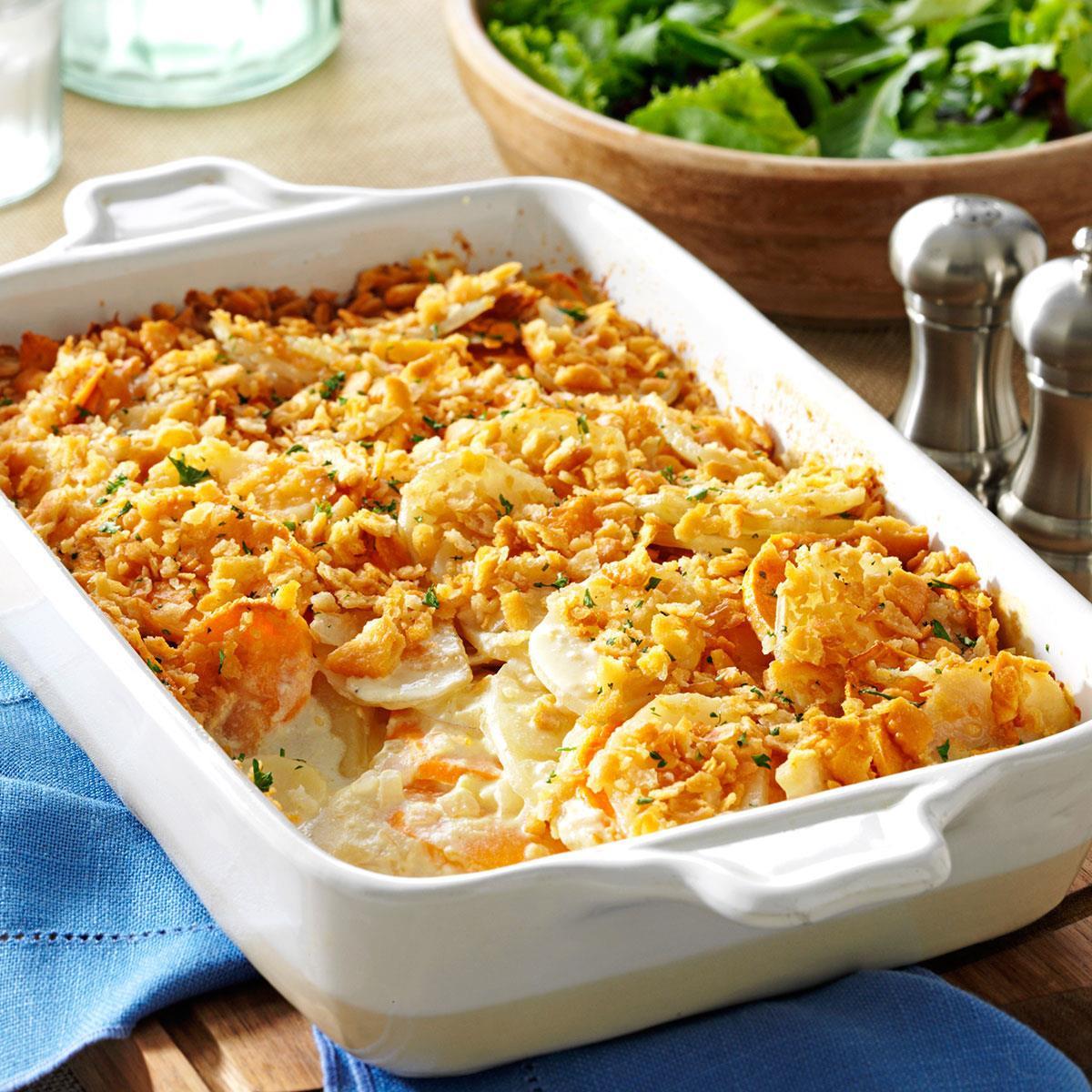 Easter Dinner For 2  Dijon Scalloped Potatoes Recipe
