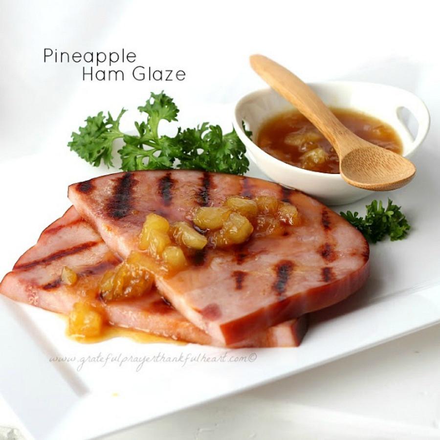 Easter Dinner For 2  Pineapple Ham Glaze Sauce Grateful Prayer