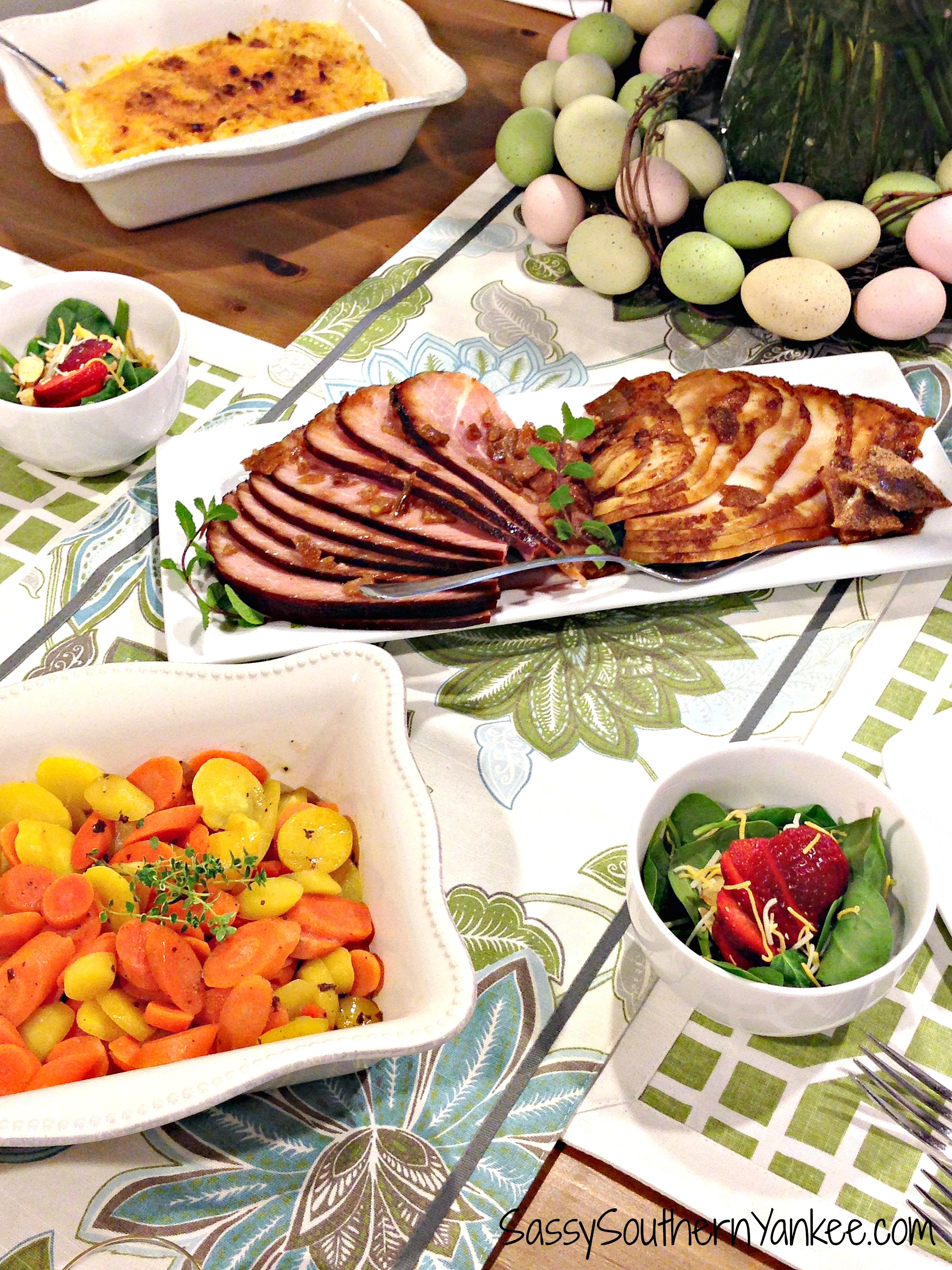 Easter Dinner For One  Delicious and Easy Easter Dinner with HoneyBaked Ham