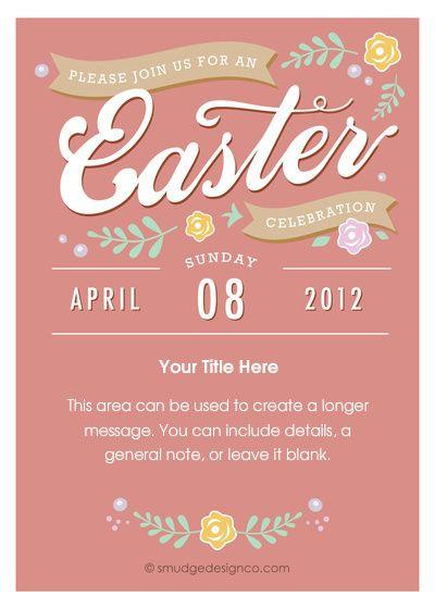 Easter Dinner Invitations  Easter dinner invite