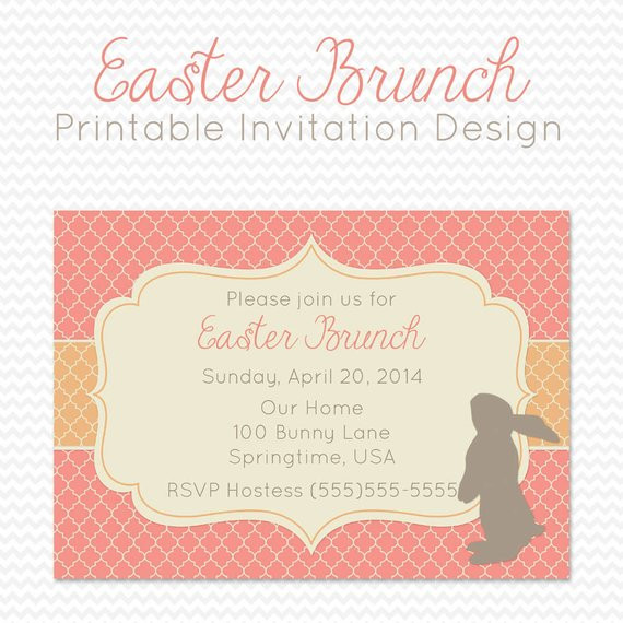 Easter Dinner Invitations  Easter Party Invitation Dinner Party Invite Spring Party