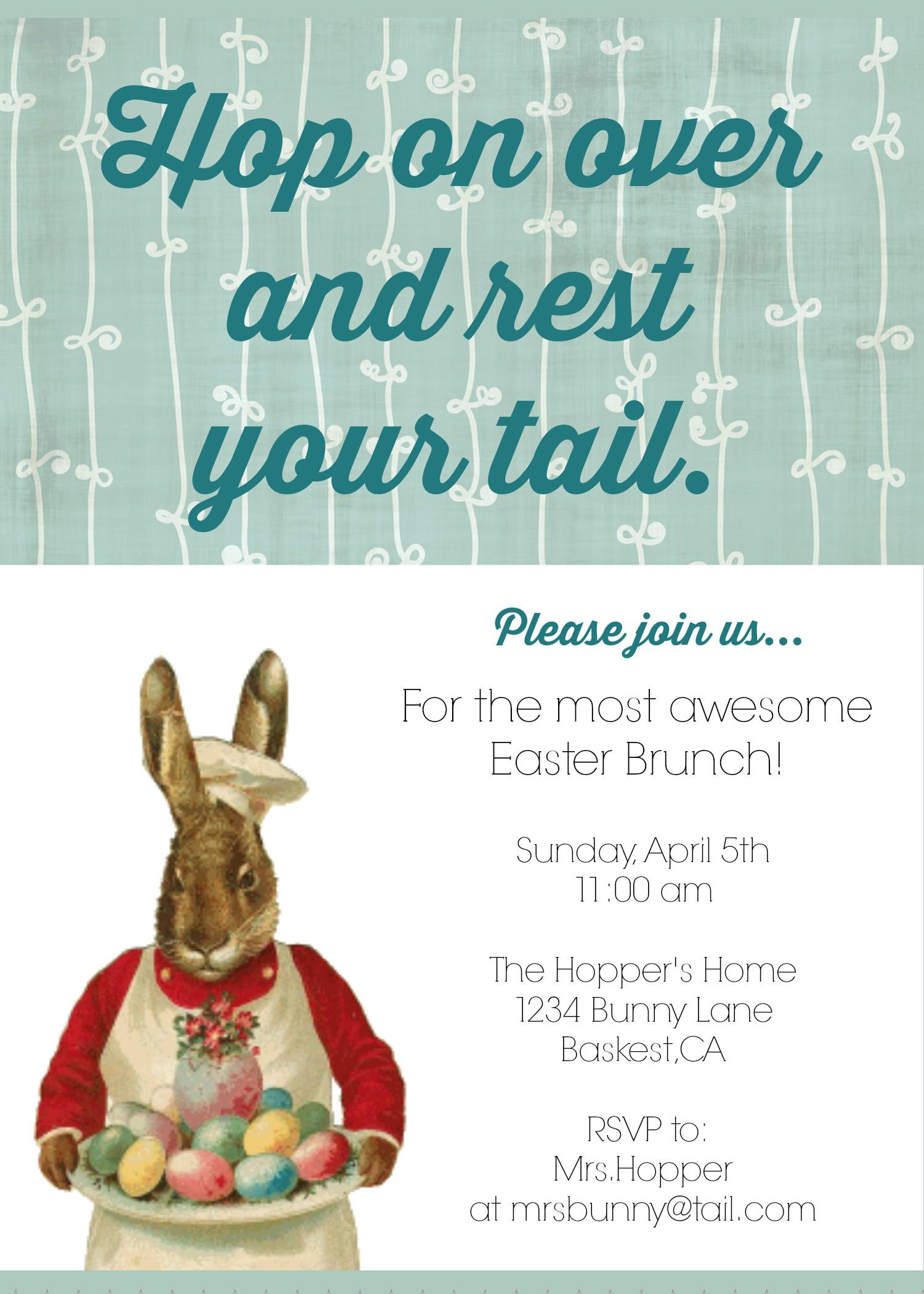Easter Dinner Invitations  Invitation To Easter Dinner Happy Easter Sunday