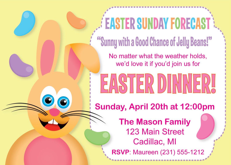 Easter Dinner Invitations  Humorous Easter Dinner Invitation Funny Easter Invitation