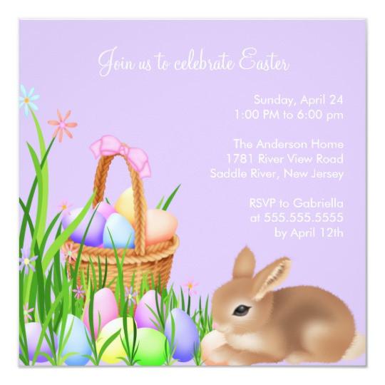 Easter Dinner Invitations  Easter Egg Garden Easter Dinner Party Invitation