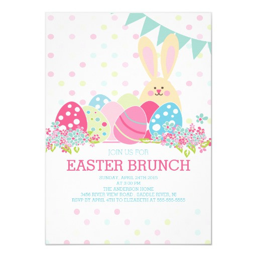 Easter Dinner Invitations  Modern Easter Brunch Dinner Party Invitation