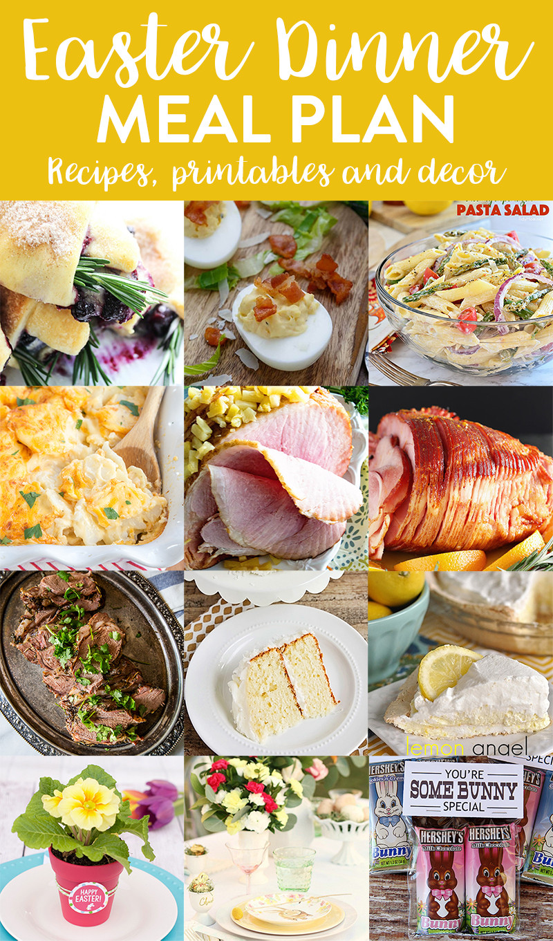 Easter Dinner Menu Ideas  Easter Dinner Menu and Meal Plan we ve done the work for