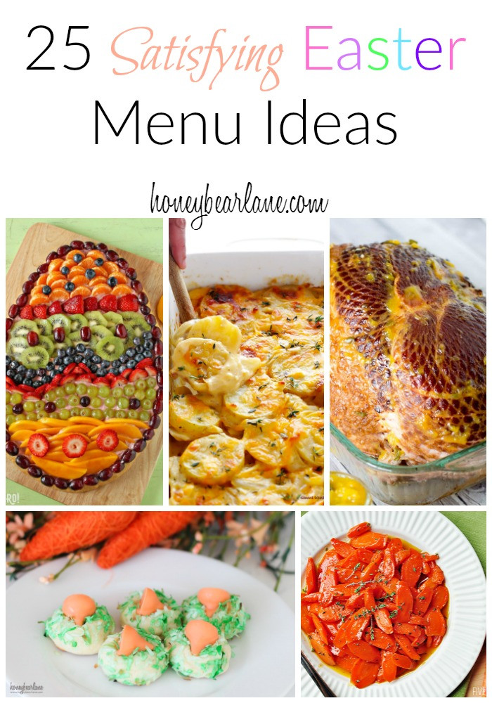 Easter Dinner Menu Ideas  25 Satisfying Easter Menu Ideas HoneyBear Lane