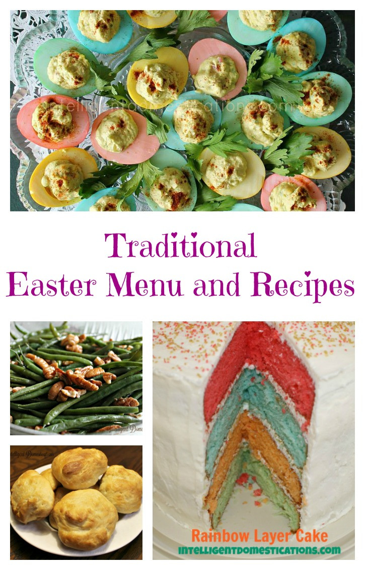 Easter Dinner Menu Traditional  Easter Menu and Recipes