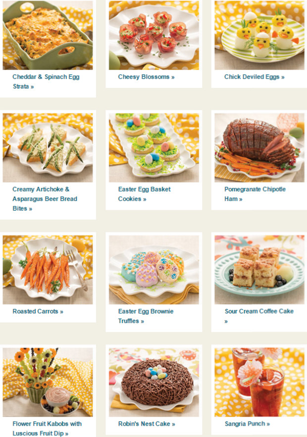 Easter Dinner Menu Traditional  Easter Menu Collection from Tastefully Simple