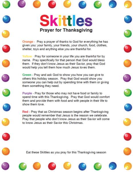Easter Dinner Prayer  Skittles Thanksgiving Prayer – Children s Ministry Deals