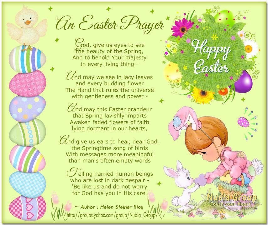 Easter Dinner Prayer  easter poems and prayers
