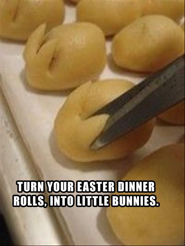 Easter Dinner Rolls  a make easter bunny rolls for easter dinner Dump A Day